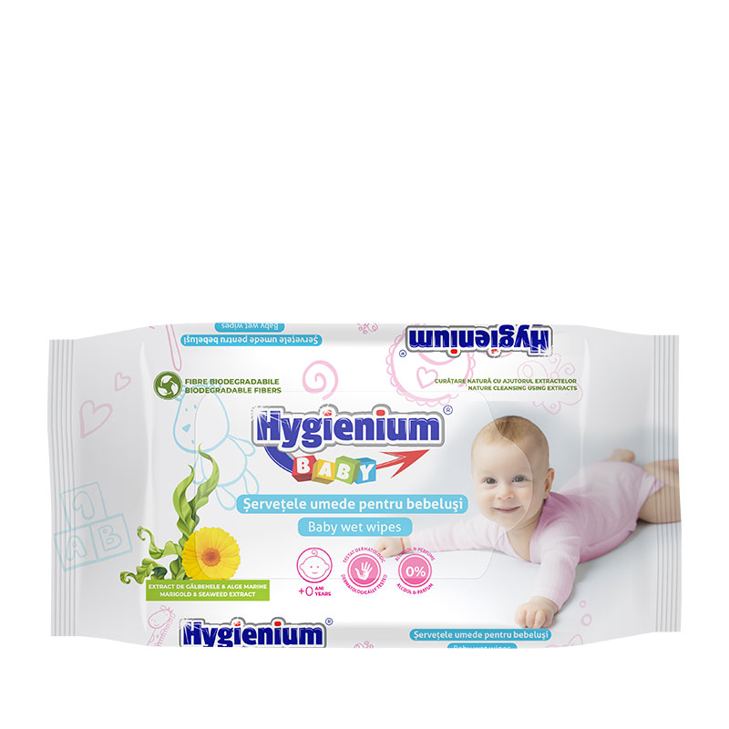 Hygienium Baby servetele umede cu extract de galbenele si alge marine