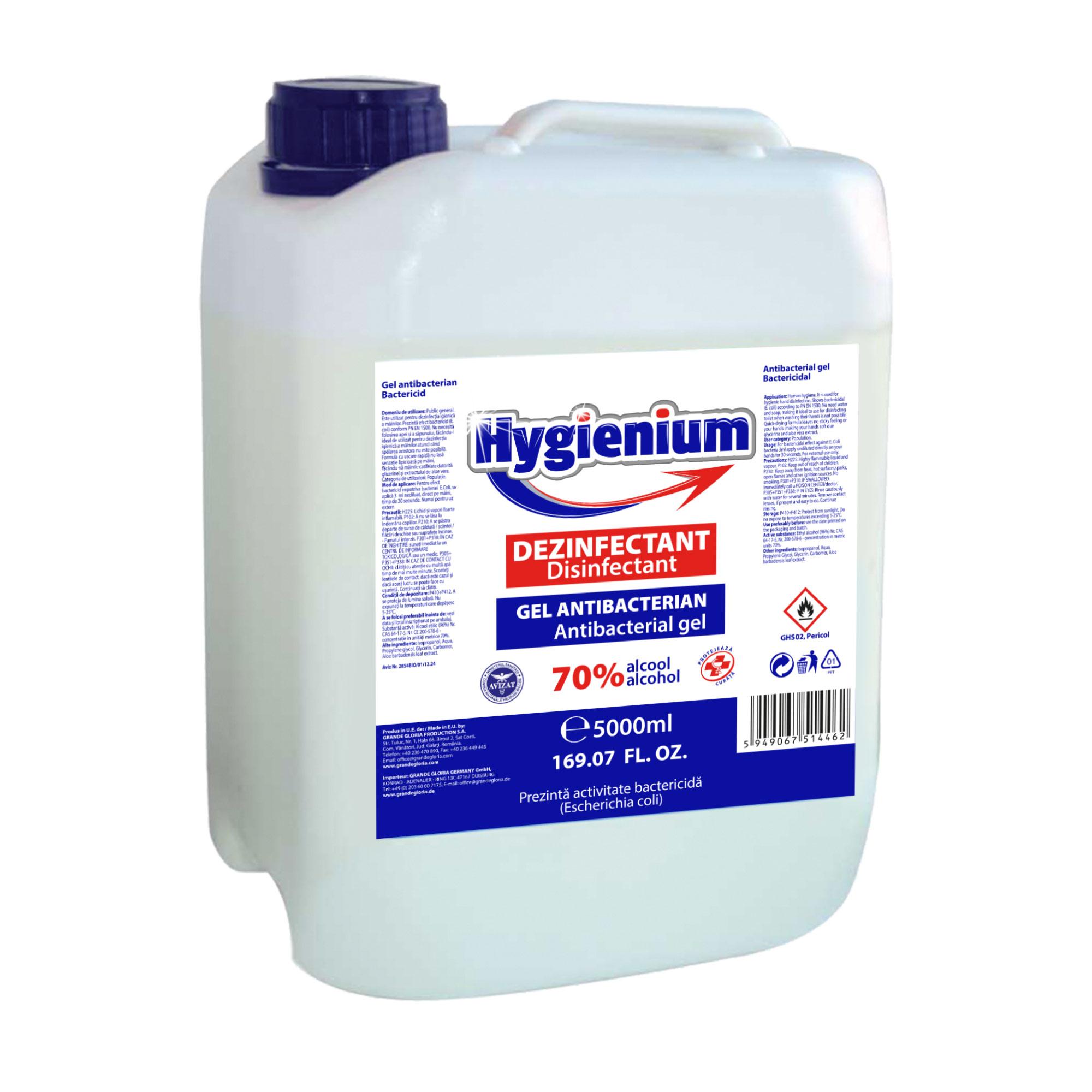 Antibakterielles Gel 70% Alkohol, 5l