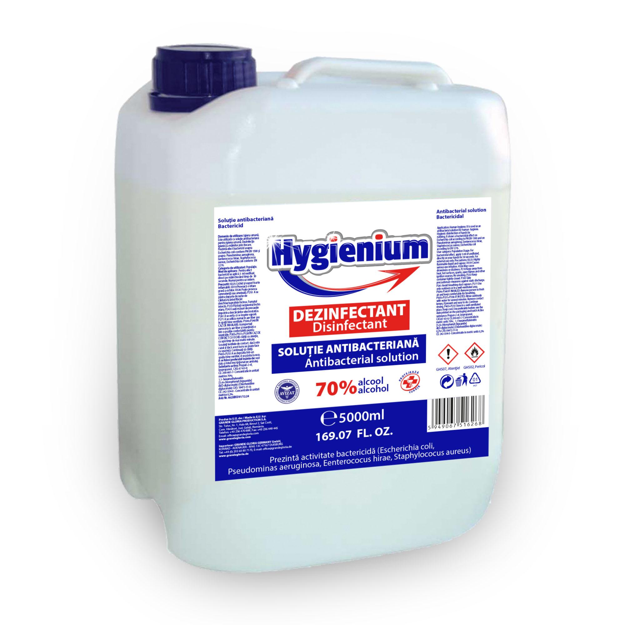 Solução antibacteriana de álcool 70%, 5l