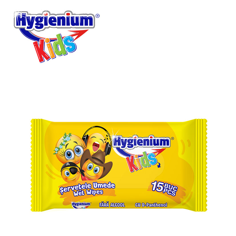 Hygienium Kids Wet Wipes Smiley 15 Stück