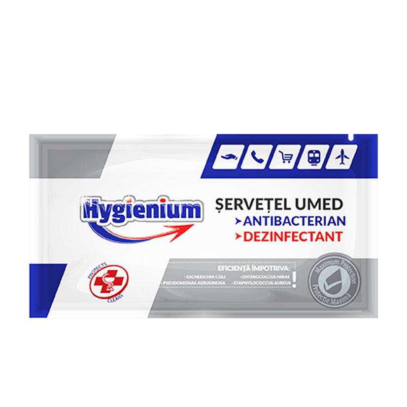Désinfectant antibactérien et individuel humide Hygienium Servetel